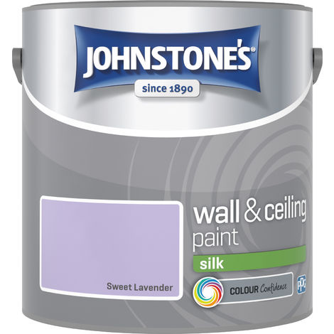 Johnstone's 306588 2.5 Litre Silk Emulsion Paint - Sweet Lavender