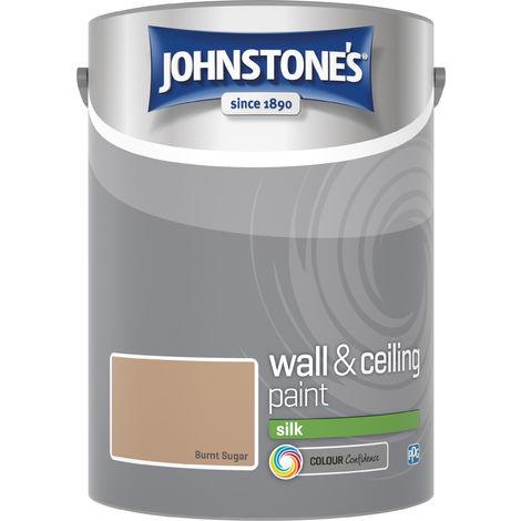 Johnstone's 306595 5 Litre Silk Emulsion Paint - Burnt Sugar