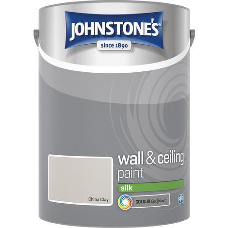 Johnstone's 306596 5 Litre Silk Emulsion Paint - China Clay