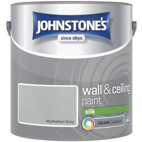 Johnstone's 307066 2.5 Litre Silk Emulsion Paint - Manhattan Grey