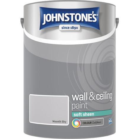 Johnstone's 307071 5 Litre Soft Sheen Emulsion Paint - Moonlit Sky