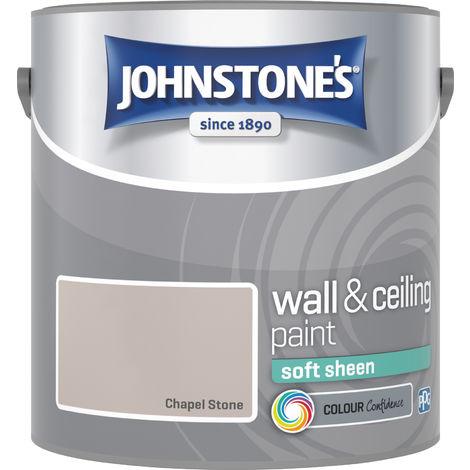 Johnstone's 307084 2.5 Litre Soft Sheen Emulsion Paint - Chapel Stone