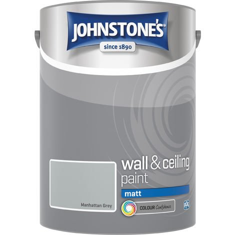 Johnstone's 307781 5 Litre Matt Emulsion Paint - Manhattan Grey