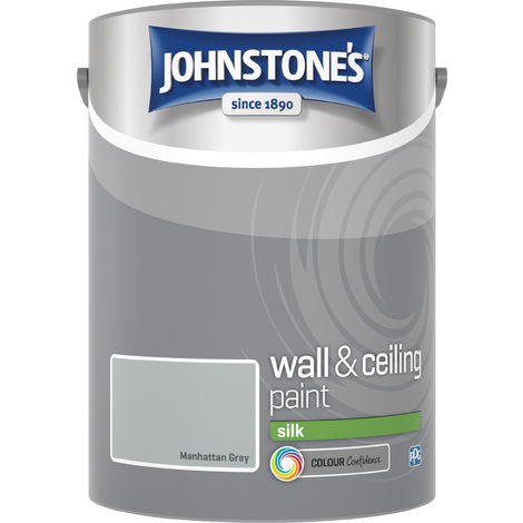 Johnstone's 307782 5 Litre Silk Emulsion Paint - Manhattan Grey