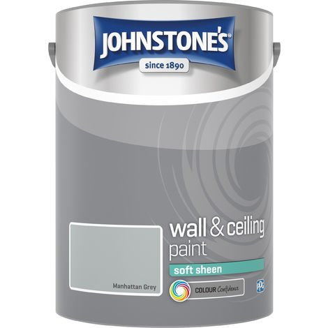 Johnstone's 307783 5 Litre Soft Sheen Emulsion Paint - Manhattan Grey