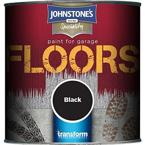 Johnstone's 307937 250ml Garage Floor Paint - Black