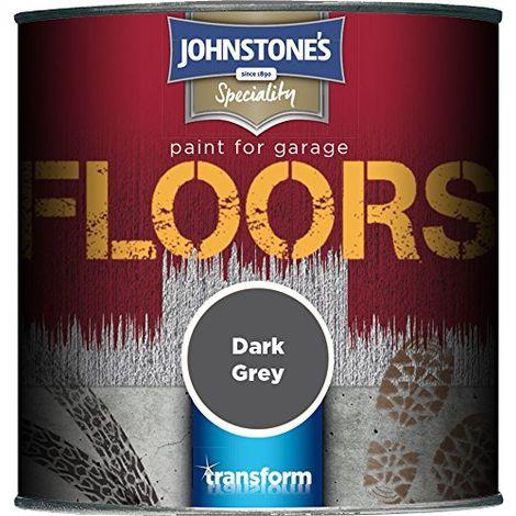 Johnstone's 307938 250ml Garage Floor Paint - Dark Grey