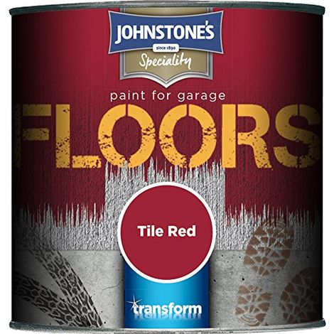 Johnstone's 308191 250ml Garage Floor Paint - Tile Red