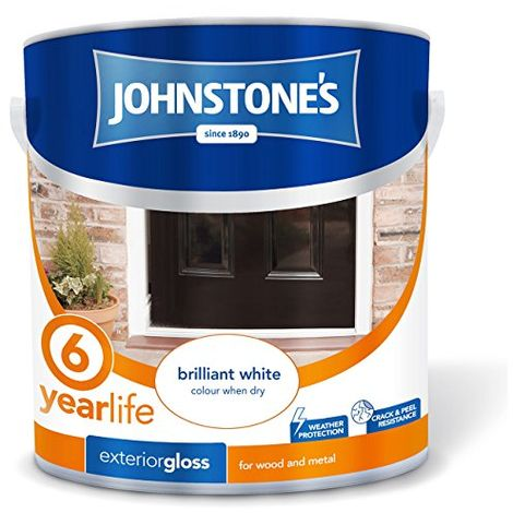 Johnstone's 309148 2.5 Litre Exterior Gloss Paint - Brilliant White