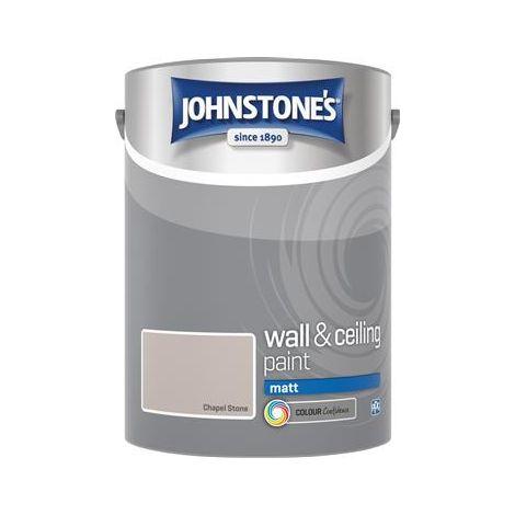 Johnstones 5 Litre Matt Emulsion Paint - Chapel Stone