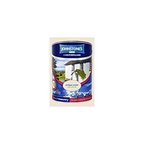 Johnstone's 5 Litre Smooth Masonry Paint - Antique Cream
