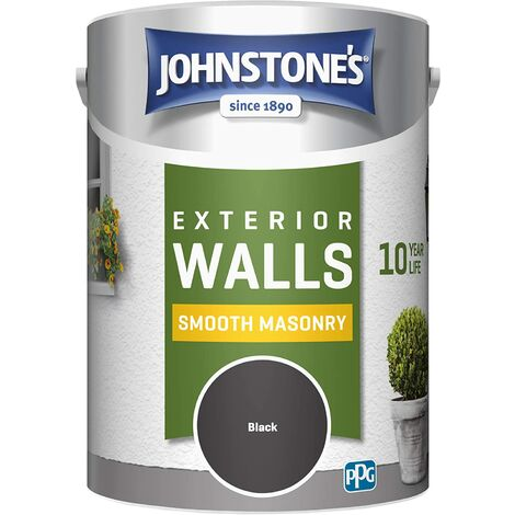 Johnstone's 5 Litre Smooth Masonry Paint - Black