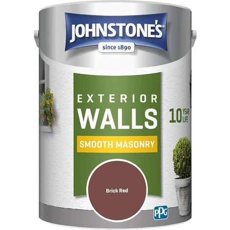 Johnstone's 5 Litre Smooth Masonry Paint - Brick Red