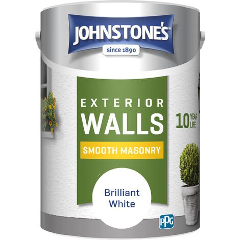 Johnstone's 5 Litre Smooth Masonry Paint - Brilliant White