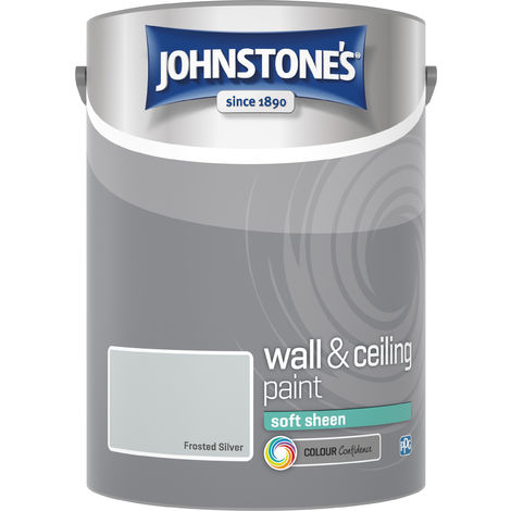 Johnstone's 5 Litre Soft Sheen Emulsion Paint - Frosted Silver