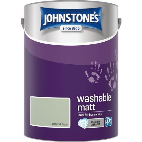 Johnstone's 5 Litre Washable Matt Emulsion Paint - Natural Sage