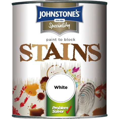 Johnstone\'s 750ml Paint To Block Stains - White
