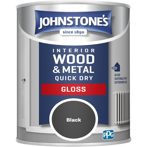 Johnstones 750ml Quick Dry Gloss Paint - Black