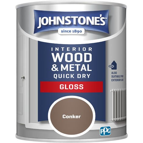 Johnstones 750ml Quick Dry Gloss Paint - Conker