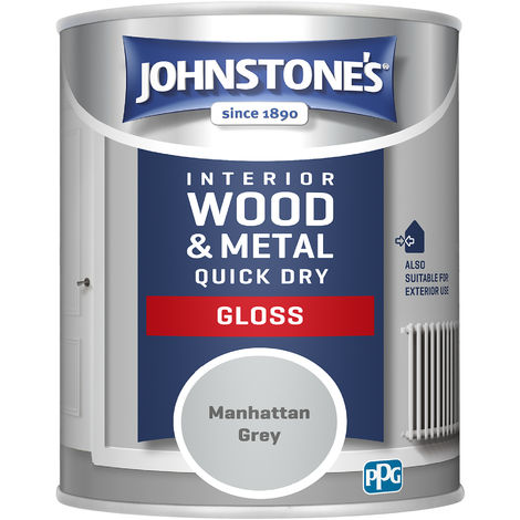 Johnstones 750ml Quick Dry Gloss Paint - Manhattan Grey