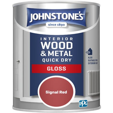 Johnstones 750ml Quick Dry Gloss Paint - Signal Red