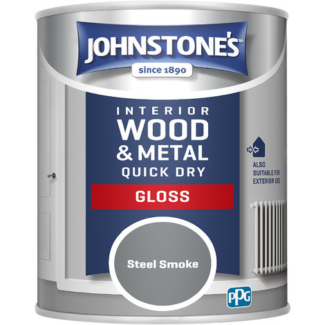 Johnstones 750ml Quick Dry Gloss Paint - Steel Smoke