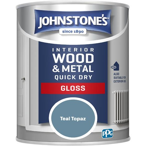 Johnstones 750ml Quick Dry Gloss Paint - Teal Topaz