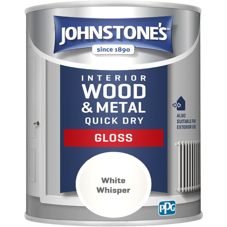 Johnstones 750ml Quick Dry Gloss Paint - White Whisper