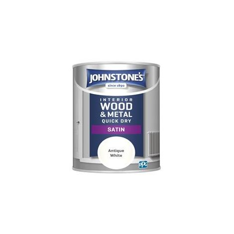 Johnstones 750ml Quick Dry Satin Paint - Antique White