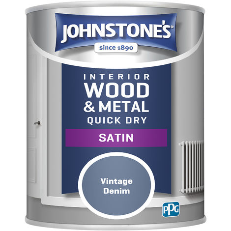 Johnstones 750ml Quick Dry Satin Paint - Vintage Denim