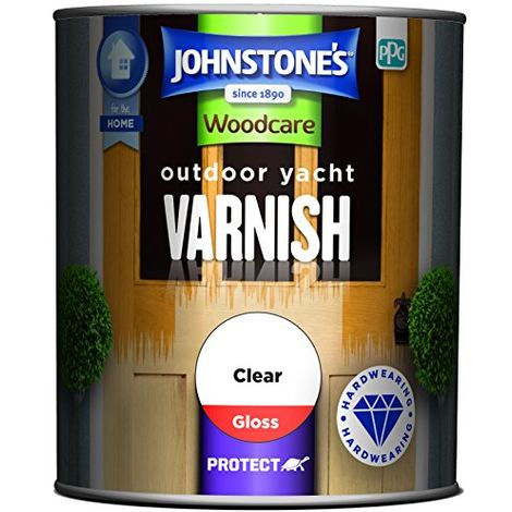 Johnstone's 750ml Woodcare Outdoor Yacht Varnish Gloss - Clear