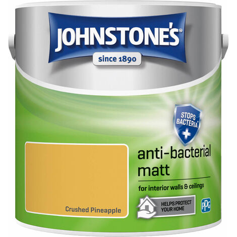 Johnstones Anti-Bacterial Matt Paint Crushed Pineapple 2.5L