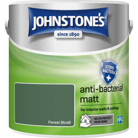 Johnstones Anti-Bacterial Matt Paint Forest Stroll 2.5L