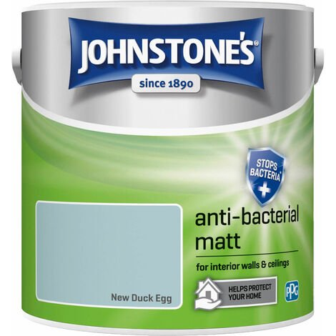 Johnstones Anti-Bacterial Matt Paint New Duck Egg 2.5L