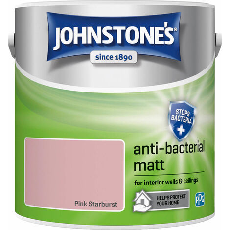 Johnstones Anti-Bacterial Matt Paint Pink Starburst 2.5L