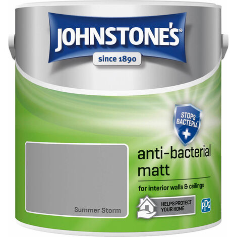 Johnstones Anti-Bacterial Matt Paint Summer Storm 2.5L