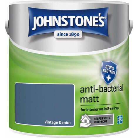 Johnstones Anti-Bacterial Matt Paint Vintage Denim 2.5L