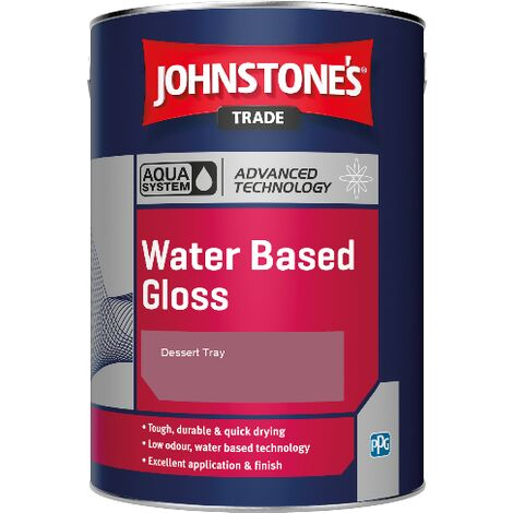 Johnstone's Aqua Water Based Gloss - Dessert Tray - 2.5ltr