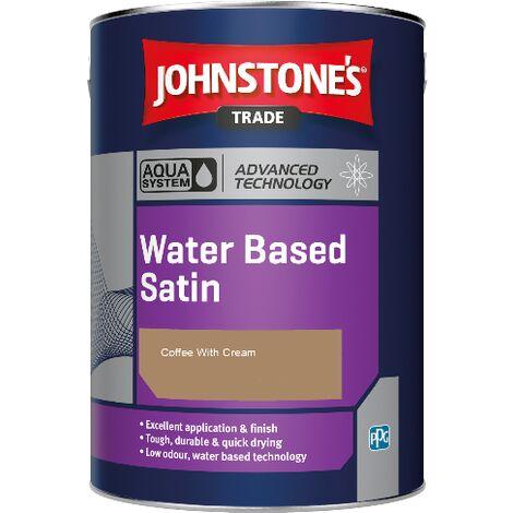Johnstone's Aqua Water Based Satin - Coffee With Cream - 1ltr