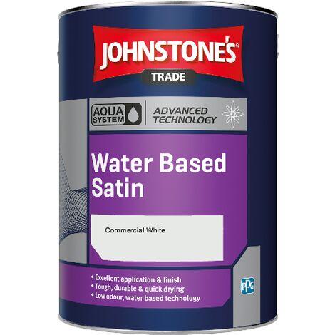 Johnstone's Aqua Water Based Satin - Commercial White - 2.5ltr