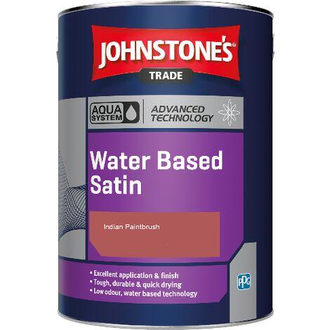 Johnstone's Aqua Water Based Satin - Indian Paintbrush - 1ltr