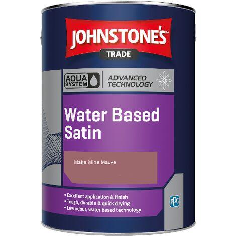 Johnstone's Aqua Water Based Satin - Make Mine Mauve - 1ltr