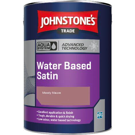 Johnstone's Aqua Water Based Satin - Moody Mauve - 1ltr