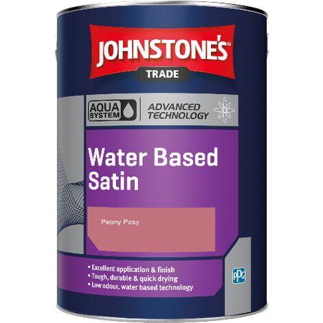 Johnstone's Aqua Water Based Satin - Peony Posy - 1ltr