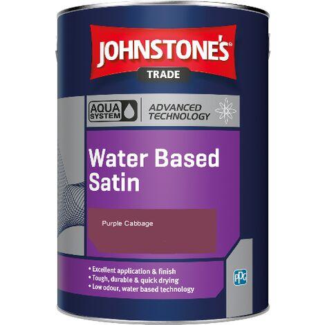 Johnstone's Aqua Water Based Satin - Purple Cabbage - 1ltr