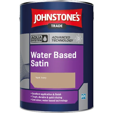 Johnstone's Aqua Water Based Satin - York Ivory - 2.5ltr