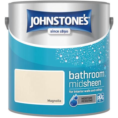 Johnstones Bathroom Mid Sheen Emulsion Magnolia 2.5 Litre