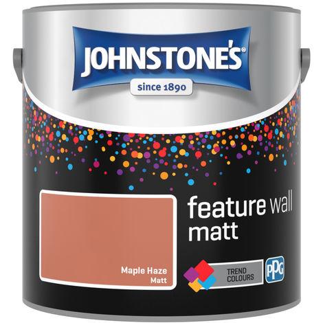 Johnstones Feature Wall Interior Emulsion Maple Haze