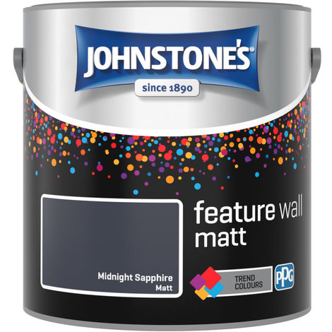 Johnstones Feature Wall Interior Emulsion Midnight Sapphire