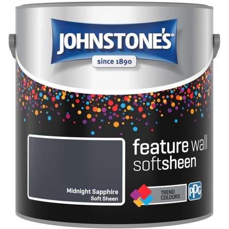 Johnstones Feature Wall Interior Emulsion Midnight Sapphire